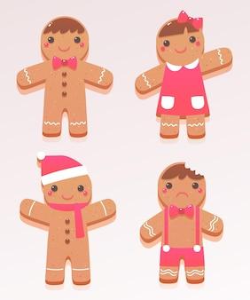 Platte ontwerp peperkoek cookies collectie