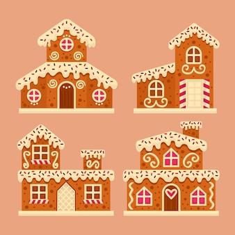 Platte ontwerp peperkoek huiscollectie