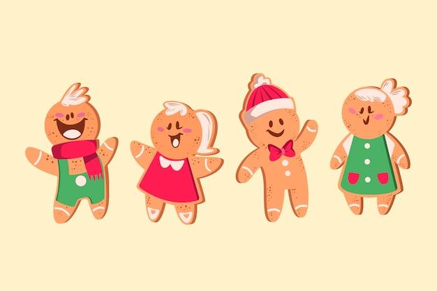 Platte ontwerp peperkoek man cookie-collectie
