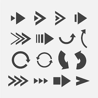 Platte ontwerp pijl collectie