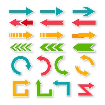 Platte ontwerp pijl collectin