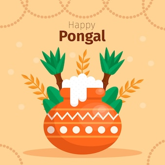 Platte ontwerp pongal festival