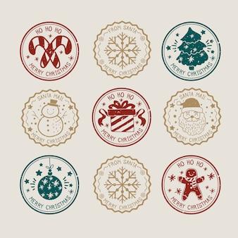 Platte ontwerp postzegel kerstcollecte