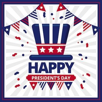 Platte ontwerp presidenten dag