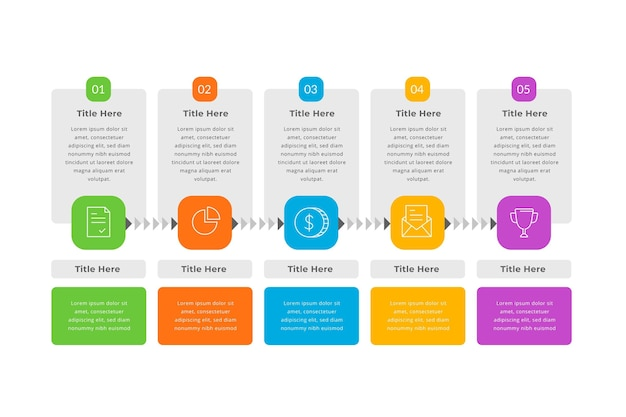 Platte ontwerp prijs infographic