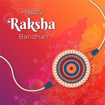 Platte ontwerp raksha bandhan thema