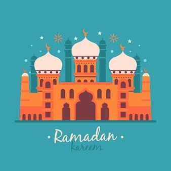 Platte ontwerp ramadan concept