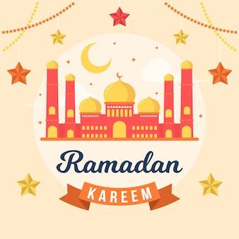 Platte ontwerp ramadan evenement ontwerp