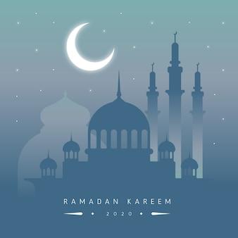 Platte ontwerp ramadan feest