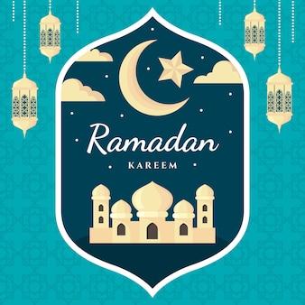 Platte ontwerp ramadan kareem