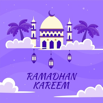 Platte ontwerp ramadan ontwerp