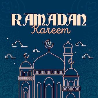 Platte ontwerp ramadan snel