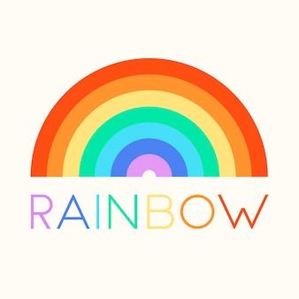 Platte ontwerp regenboog