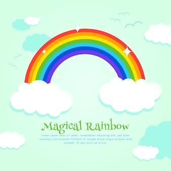 Platte ontwerp regenboogontwerp