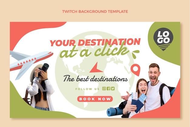Platte ontwerp reis twitch achtergrond