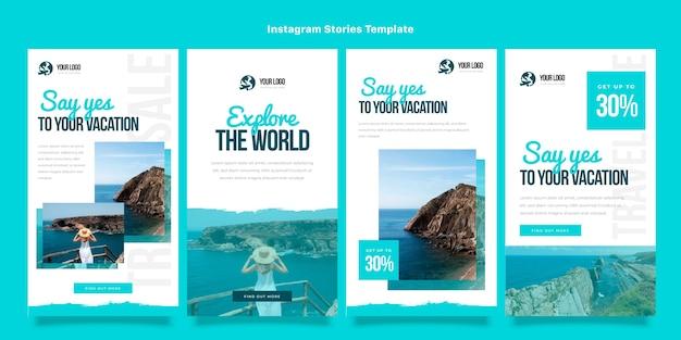 Platte ontwerp reisverhalen