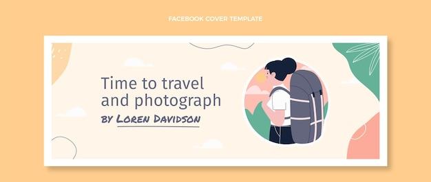 Platte ontwerp reizen facebook cover