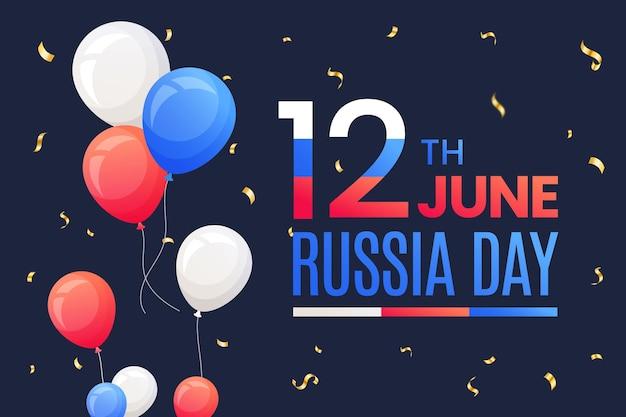 Platte ontwerp rusland dag achtergrond