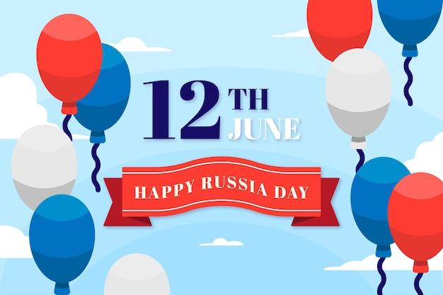 Platte ontwerp rusland dag behang concept