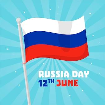 Platte ontwerp rusland dag concept