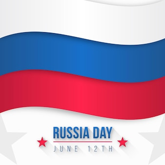 Platte ontwerp rusland internationale dag 12 juni