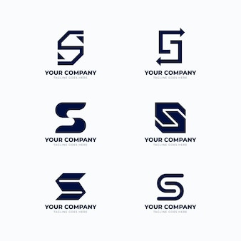 Platte ontwerp s logo sjabloonpakket
