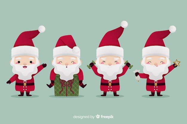 Platte ontwerp santa claus character collection