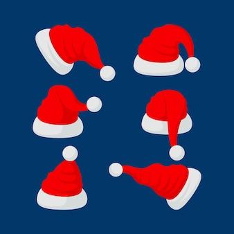 Platte ontwerp santa's hoedencollectie