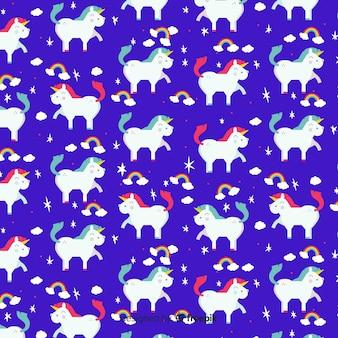 Platte ontwerp schattig eenhoorn patroon