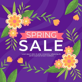 Platte ontwerp seizoensgebonden lente verkoop ontwerp