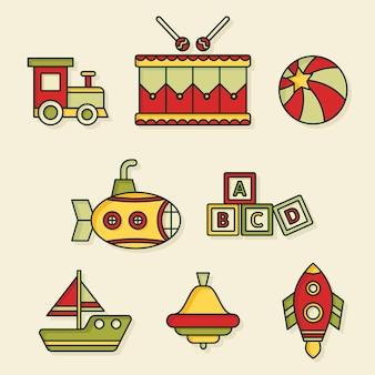 Platte ontwerp speelgoedcollectie kerst