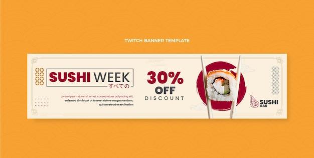 Platte ontwerp sushi week twitch banner