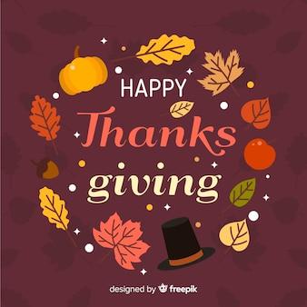 Platte ontwerp thanksgiving behang