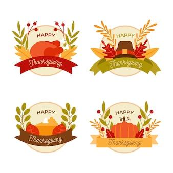 Platte ontwerp thanksgiving labelcollectie