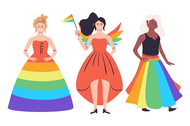 Platte ontwerp trots dag mensen illustratie