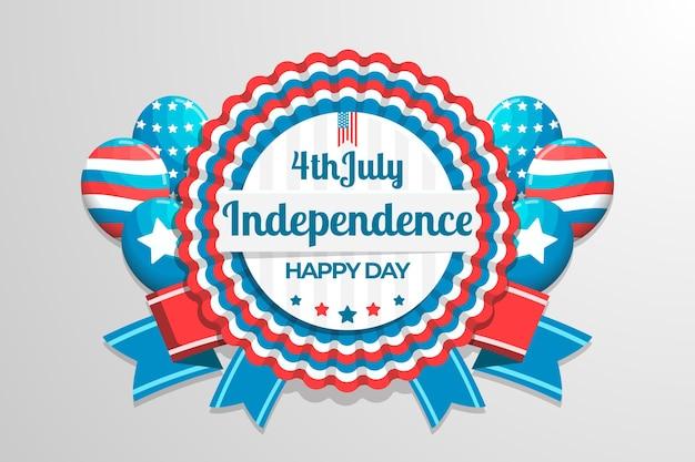Platte ontwerp usa onafhankelijkheidsdag achtergrond