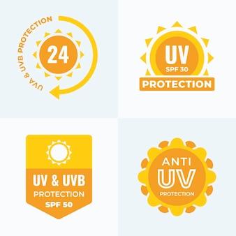 Platte ontwerp uv-badgecollectie