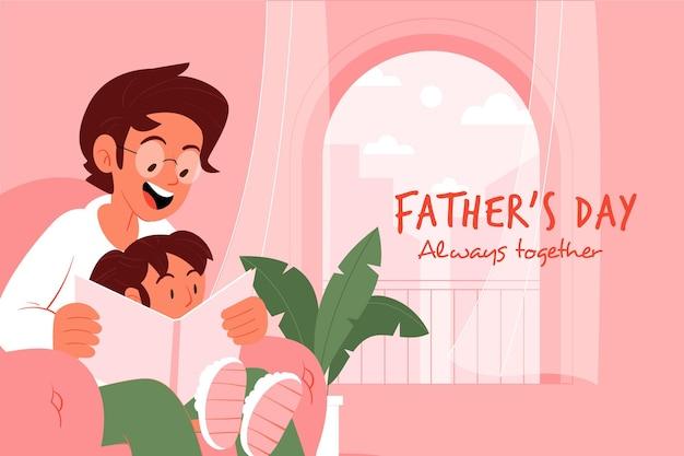 Platte ontwerp vaders dag concept