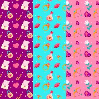 Platte ontwerp valentiens dag patroon