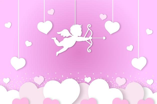 Platte ontwerp valentijnsdag achtergrond concept
