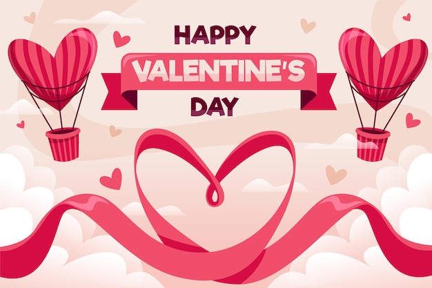 Platte ontwerp valentijnsdag achtergrond