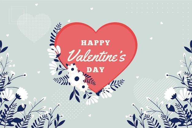 Platte ontwerp valentijnsdag behang met groet