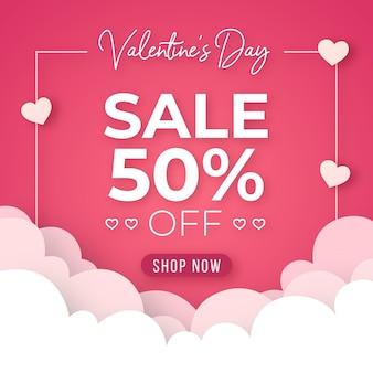 Platte ontwerp valentijnsdag verkoop