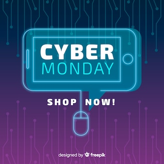 Platte ontwerp van cyber maandag voor mobiele telefoons