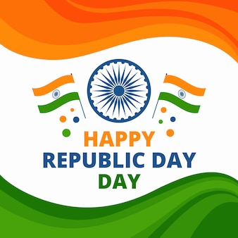 Platte ontwerp van de indiase republiek dag