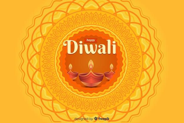 Platte ontwerp van diwali achtergrond