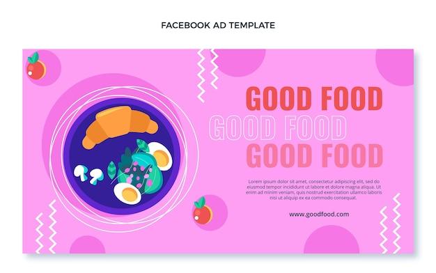 Platte ontwerp van facebook-advertentie voor eten
