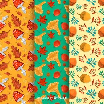Platte ontwerp van herfst patroon collectie