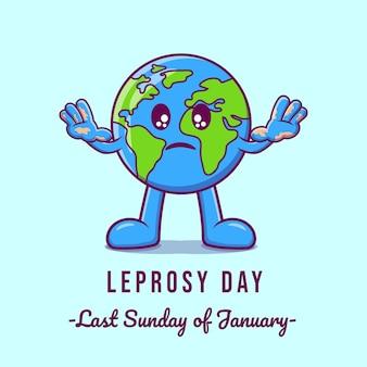 Platte ontwerp van lepra dag premie vector.