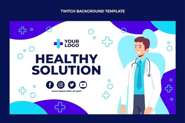 Platte ontwerp van medische twitch achtergrond